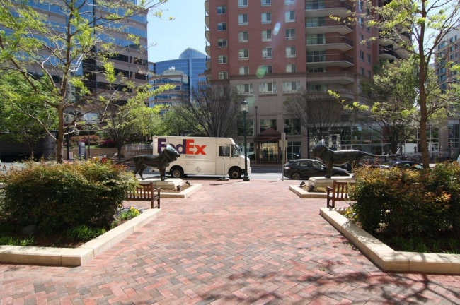 Beautiful walkways from Lionsgate lead to everything in downtown Bethesda