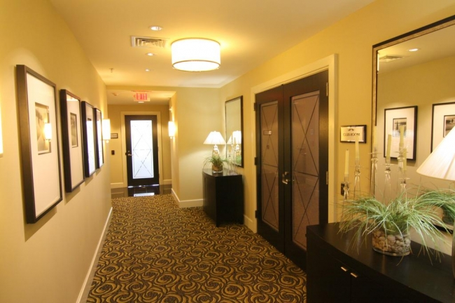 The Lionsgate offers elegant, wide hallways in the building